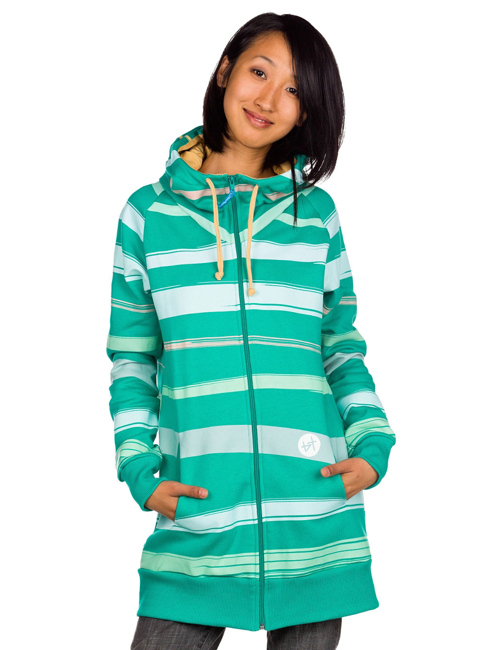 Waterstripes Zip Hood Women