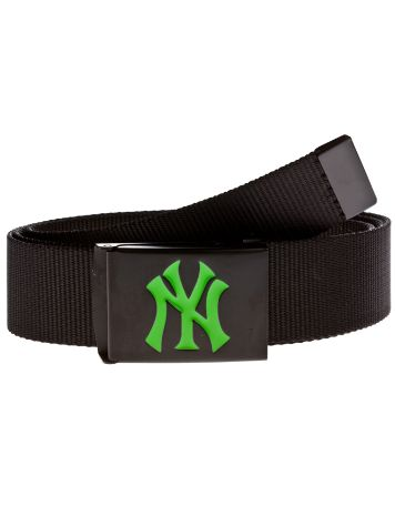 MLB Premium Black Woven Belt Single