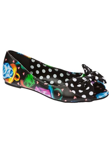 Iron Fist Ring Pop Peep Toe Flat Shoes