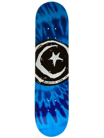 Foundation Star and Moon Tie Dye Blue 7.75