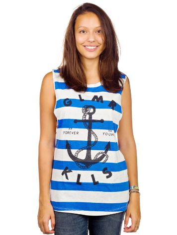 Glamour Kills Land Locked Blues Cut Sleeve Tank Top