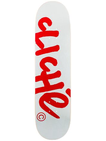 Cliche Handwritten Classic White/Red R7 8.1 Deck