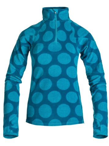 Roxy Mist Half Zip Pin Dot Spot Blue Pullover