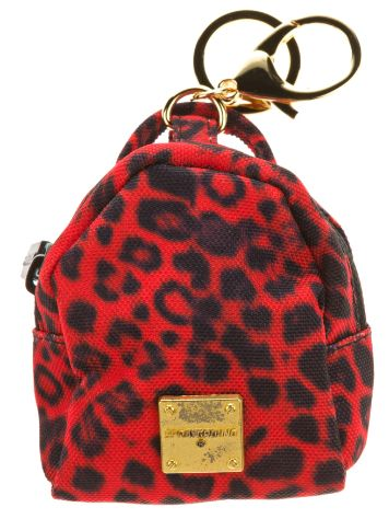 Sprayground Red Leopard Mini Pouch Bag
