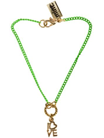 mint Love Neon Chain Bracelet