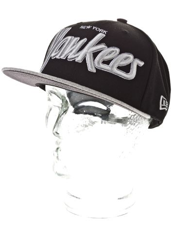 New Era NY Yankees Team Script Heather Cap