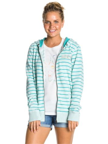 Roxy Friendly Heather Stripe Zip Hoodie