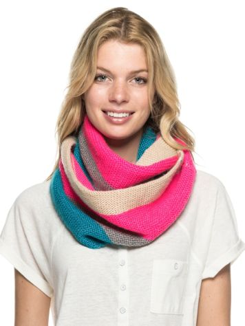 Roxy Collar Stripes Scarf
