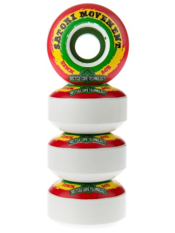 Satori Recycled Core Rasta Swirl 80b 52mm Wheels