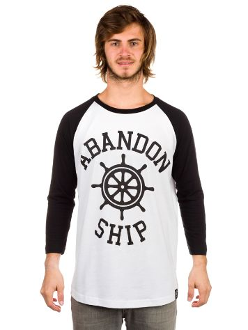 Abandon Ship Wheel T-Shirt LS