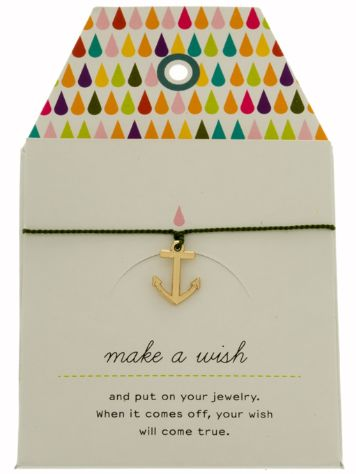 mint Anchor Silk Card Bracelet