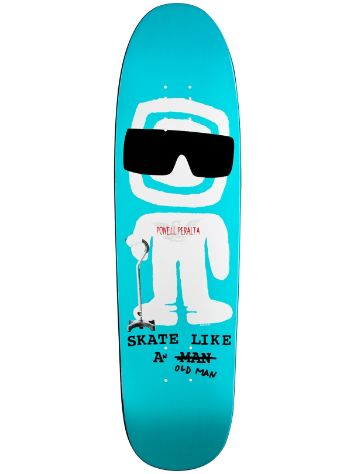"Powell Peralta Skate like an old Man Fun Shape 8.4"" Dec"