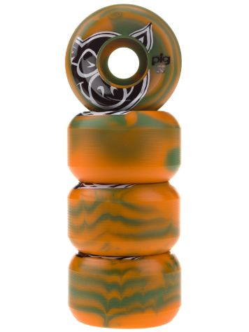 Pig Wheels Head Swirl Forest Orange 53mm Wheels