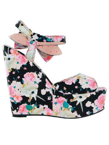 Iron Fist Buns N' Roses Wedge Fashion Shoes Women