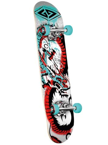"Powell Golden Dragon Loop Stencil Dragon 7.75"" Skateboard Com"