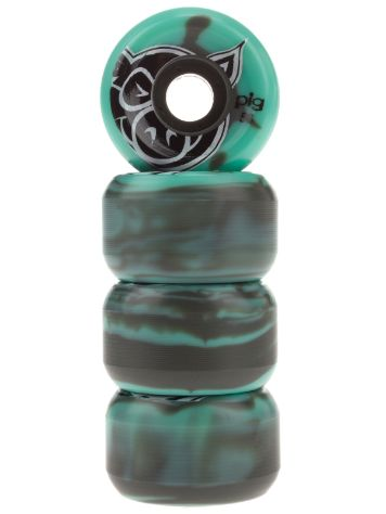 Pig Wheels Head Swirl Teal Grey 53mm Wheels