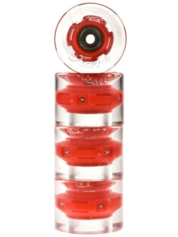 Sunset Skateboards Red 59mm Conical Cruiser Wheels
