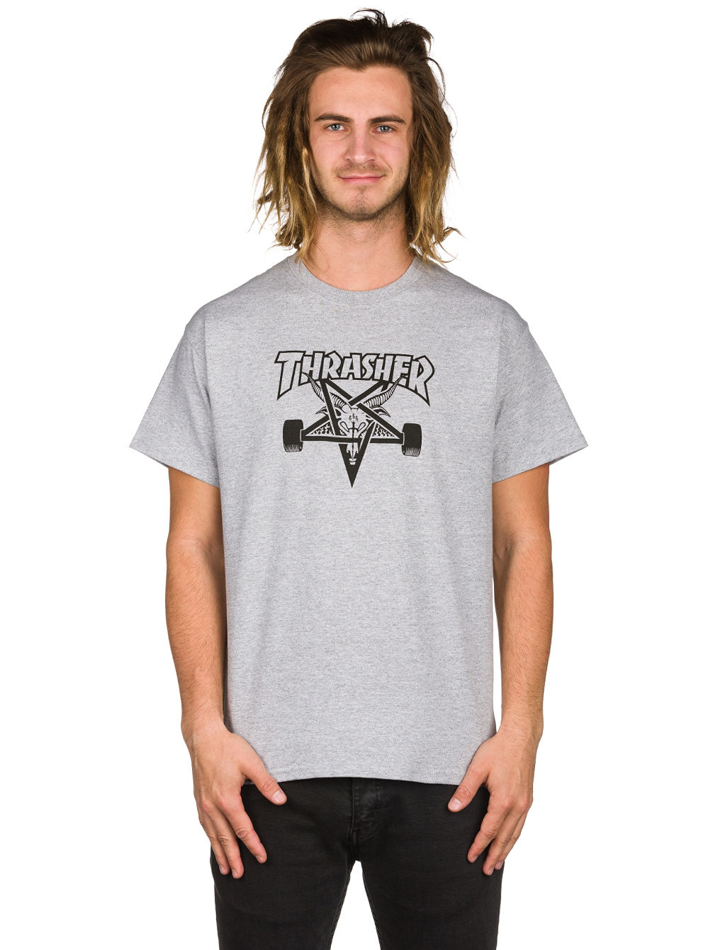 achetez thrasher skate goat t shirt en ligne sur blue. Black Bedroom Furniture Sets. Home Design Ideas