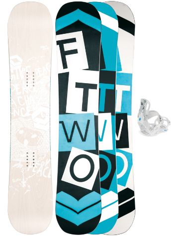 FTWO Whitedeck Wood 150 + LTD Fastec M Snowboard Set