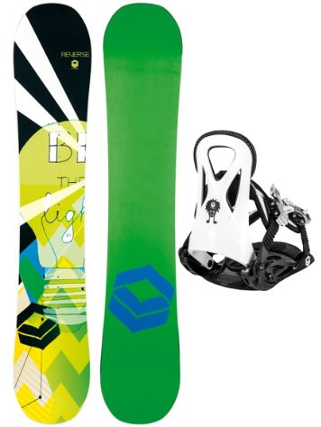 FTWO Reverse Rookie 120 + Rookie S 2017 Boys Snowboard Set