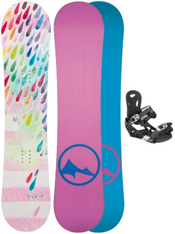 TRANS LTD Drops 110 + Eco XS/S 2017 Girls Snowboard Set