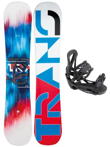 TRANS FE Rocker White 162W + Team SMO L Black 2017 Snowboard Set