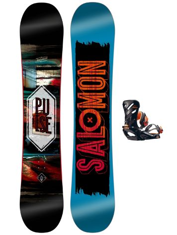 Salomon Pulse 156 + Rhythm Orange 2017 Snowboard Set