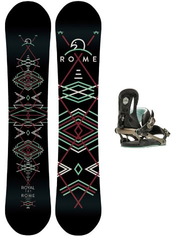 Rome Royal 147 + Strut SM Black 2017 Snowboard Set