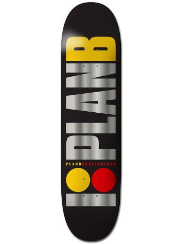 "Plan B Team Og Blk Ice 7.875"" Skateboard Deck"