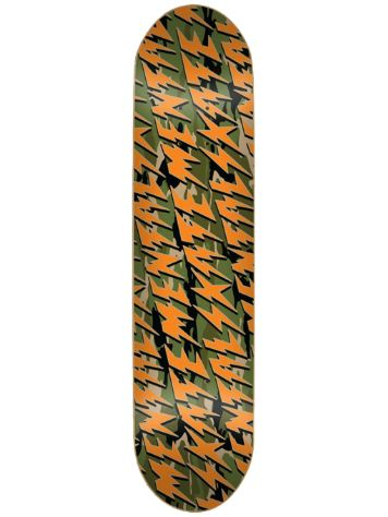 "Skate Mental Bolts Camo 8.375"" Skateboard Deck"