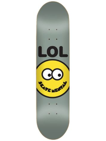 "Skate Mental Lol Smiley Face Grey 8.25"" Skateboard De"