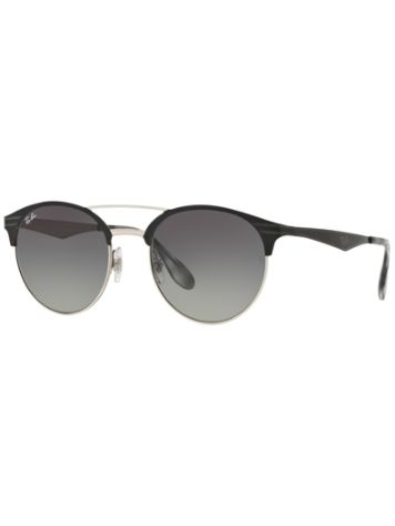 Ray Ban Double Bridge Top Black On Silver