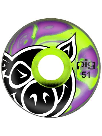 Pig Wheels Head Swirls 51mm Rollen