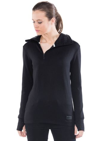 Mons Royale Merino Harlow 1/4 Zip Tech t-shirt LS