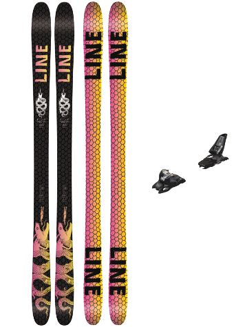 Line Tigersnake 171 + Squire 11 90mm black 2018 Freeski set