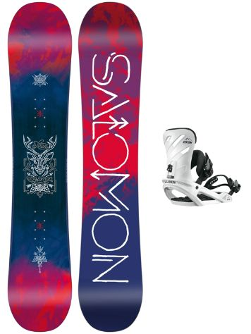 Salomon Lotus 142 + Rhythm White S 2018 Snowboard Set