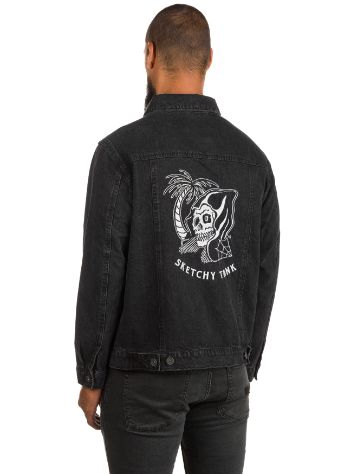 Sketchy Tank Black Acid Trucker Jacket
