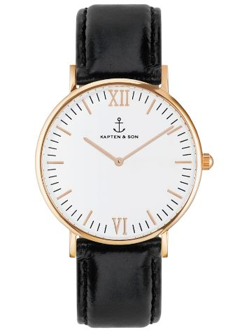 Kapten&Son Campina Black White 36mm Horloge