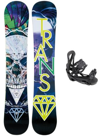 TRANS Pirate 151 + Team M Blk 2018 Snowboard Set