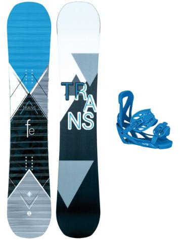 TRANS FE Rocker 157W + Team L Blue 2018 Snowboard Set