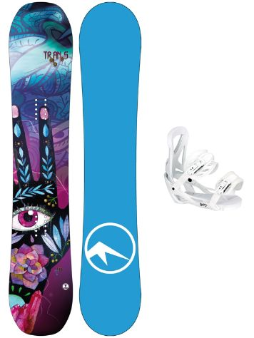 TRANS LTD 152 + Team Girl M Wht 2018 Snowboard set