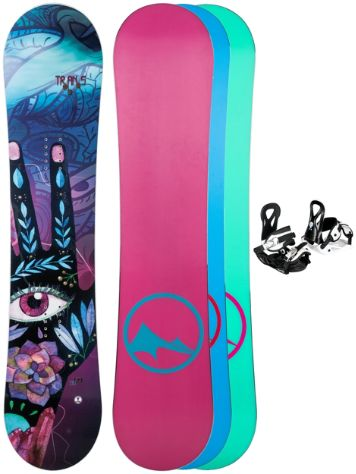 TRANS LTD Junior 110 + Eco XSS 2018 Girls Snowboard set
