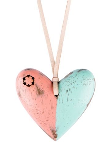 Float Heart Big Colour Necklace