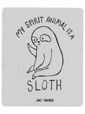 Jac Vanek Spirit Sloth Sticker