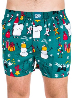 Lousy Livin Merry Merry Boxershorts forrest green Gr. XL