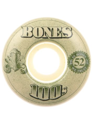 Bones Wheels 100'S Og #16 100A White 53mm Rollen