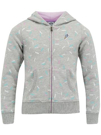 Animal Splatters Zip Hoodie Girls