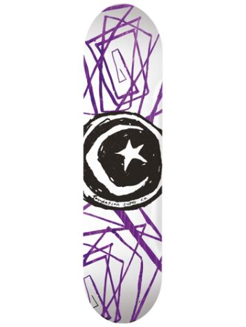 "Foundation Star And Moon Lines 8.0"" Skateboard Deck"